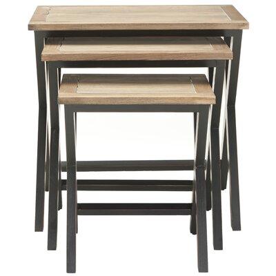 Edgecomb 3 Piece Nesting Tables Color: Black/Oak