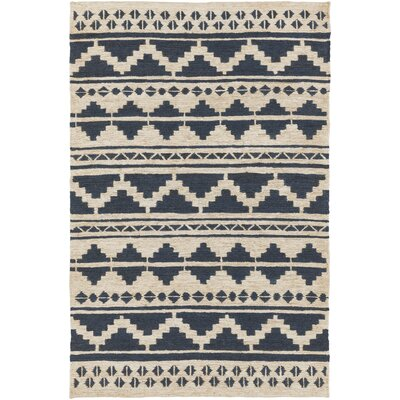 Columbia Hand-Woven Navy Area Rug Rug Size: Rectangle 5 x 8