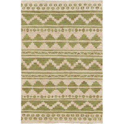 Columbia Hand-Wovem Green Area Rug Rug Size: Rectangle 2 x 3