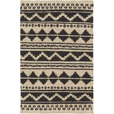 Columbia Hand-Woven Black Area Rug Rug Size: Rectangle 2 x 3