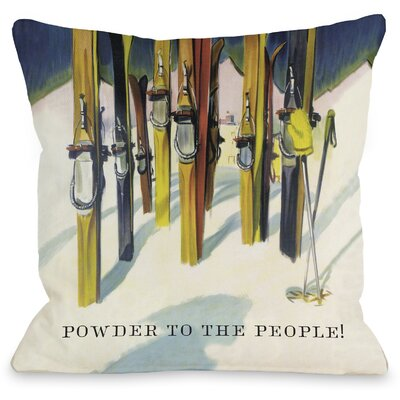 Perham Vintage Ski Throw Pillow Size: 26 H x 26 W