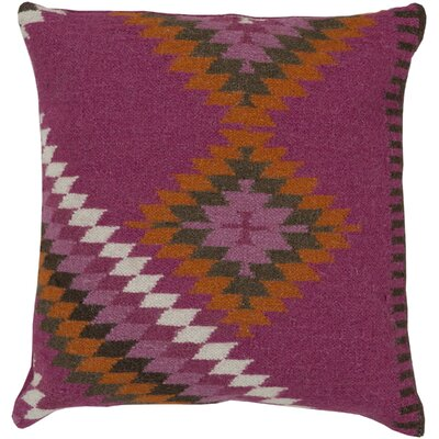 Elmira Throw Pillow Size: 20 H x 20 W x 4 D, Color: Magenta, Filler: Down