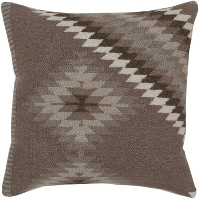 Elmira 100% Cotton Throw Pillow Size: 18 H x 18 W x 4 D, Color: Dark Taupe / Oatmeal / Army Green, Filler: Down