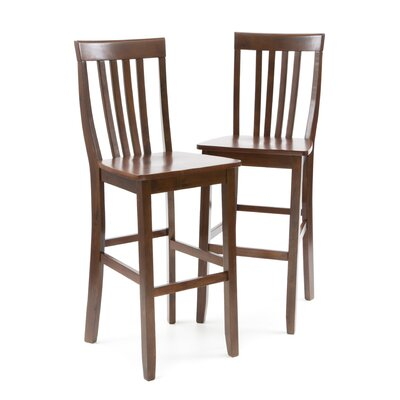 Beckman 30 Bar Stool Finish: Mahogany