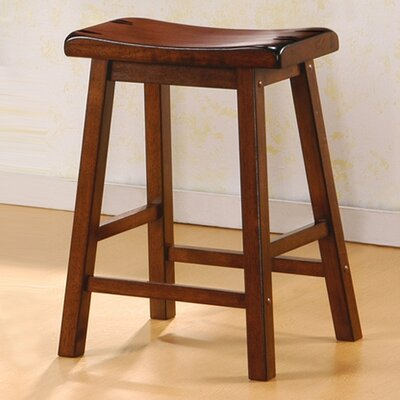 Mazama 24 Bar Stool Upholstery: Dark Walnut