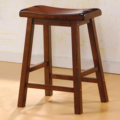 24 Bar Stool Upholstery: Dark Walnut
