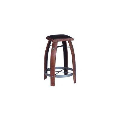 Gardiner 24 inch Swivel Bar Stool Upholstery: Chocolate