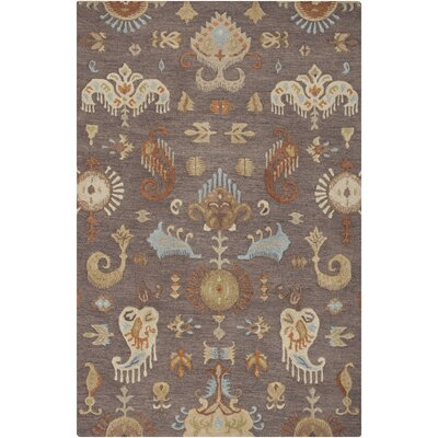 Wamsutter Hand-Hooked Gray Area Rug Rug Size: 8 x 11