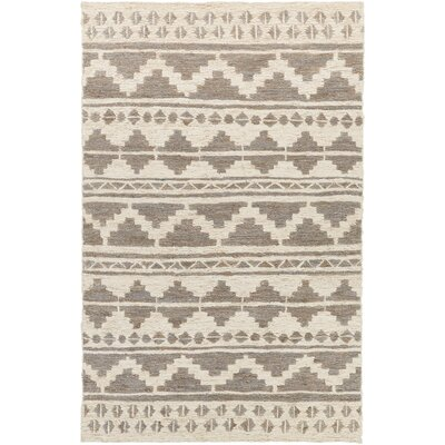 Manderson Hand Woven Gray/Beige Area Rug Rug Size: Rectangle 8 x 11