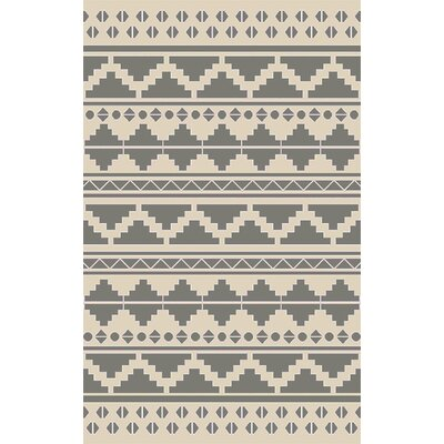 Manderson Hand Woven Gray Area Rug Rug Size: 5 x 8
