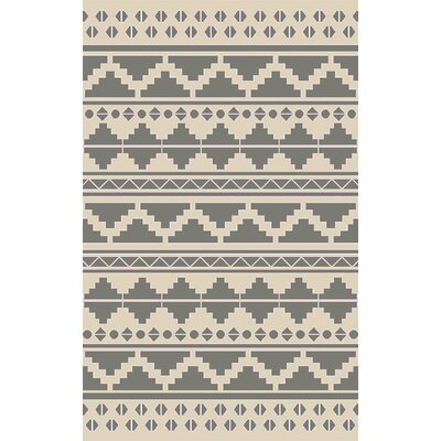 Manderson Hand Woven Gray Area Rug Rug Size: 8 x 11