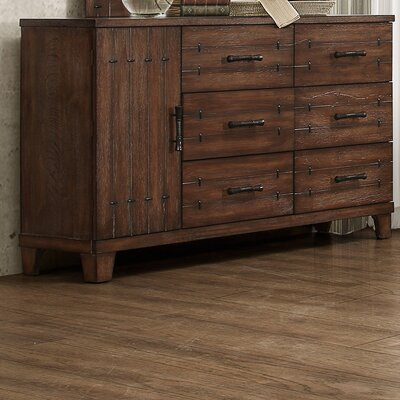 Empire 6 Drawer Combo Dresser with Mirror