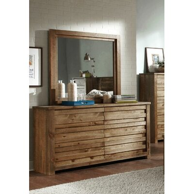 Melrose 6 Drawer Double Dresser with Mirror