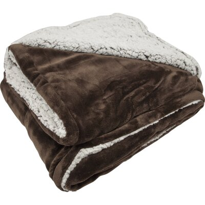 New Castle Polyester Throw Blanket Color: Chocolate