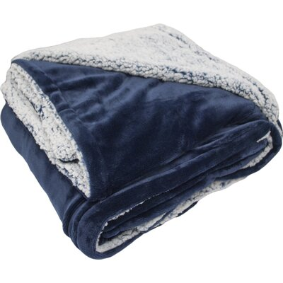 New Castle Polyester Throw Blanket Color: Navy