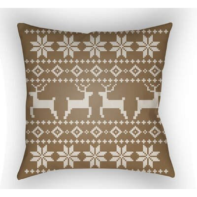 Battlement Indoor/Outdoor Throw Pillow Size: 18 H x 18 W x 4 D, Color: Tan/Beige