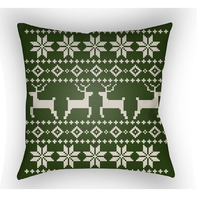 Battlement Indoor/Outdoor Throw Pillow Size: 18 H x 18 W x 4 D, Color: Green/Beige