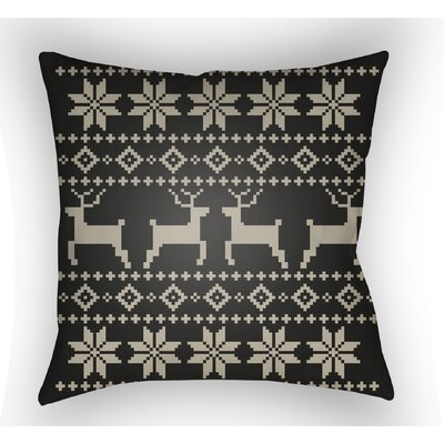 Battlement Indoor/Outdoor Throw Pillow Size: 18 H x 18 W x 4 D, Color: Black/Beige