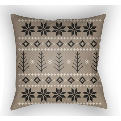 Battlement III Indoor Outdoor Throw Pillow Size: 20 H x 20 W x 4 D, Color: Tan/Neutral/Black
