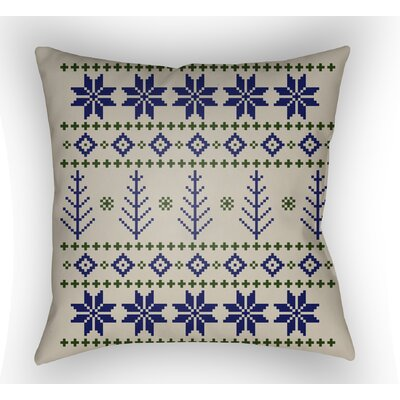 Battlement III Indoor Outdoor Throw Pillow Size: 18 H x 18 W x 4 D, Color: Blue/Neutral/Green