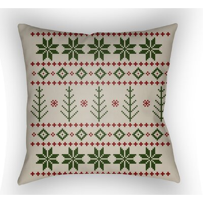 Battlement III Indoor Outdoor Throw Pillow Size: 18 H x 18 W x 4 D, Color: Green/Neutral/Red