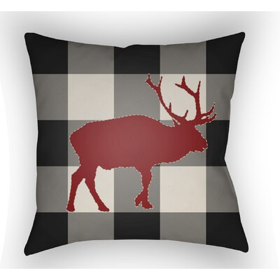 Bighorn Indoor Outdoor Throw Pillow Size: 18 H x 18 W x 4 D, Color: Black/Red/Neutral