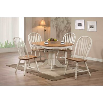 Clarno Extendable Dining Table Table Finish: Antique White and Oak