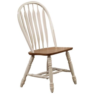 Clarno Solid Wood Dining Chair (Set of 2) Side Chair Finish: Rustic Oak and Antique White
