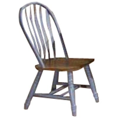 Florentia Solid Wood Dining Chair (Set of 2) Color: Rustic Oak and Blue