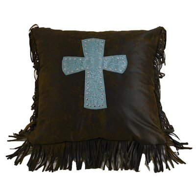 Applewood Cross Throw Pillow