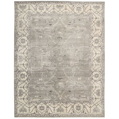 Anoop Hand-Knotted Silver Area Rug Rug Size: Rectangle 99 x 139