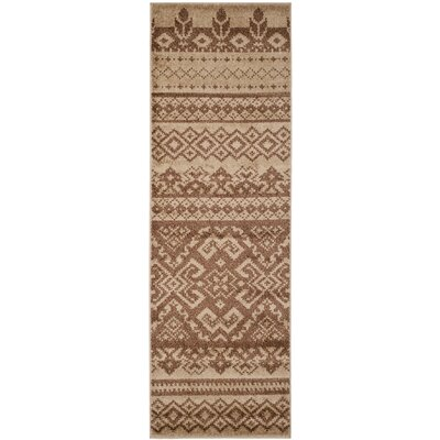 St. Ann Highlands Camel/Chocolate Area Rug Rug Size: Runner 26 x 6