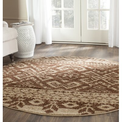 St. Ann Highlands Camel/Chocolate Area Rug Rug Size: Square 6
