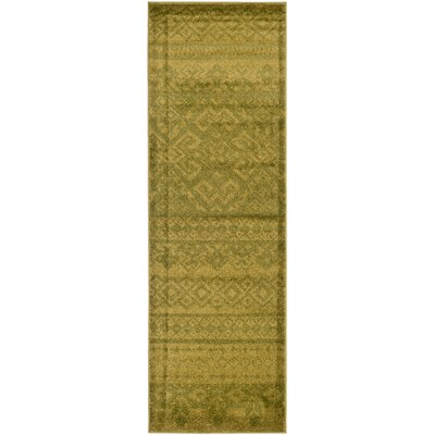 St. Ann Highlands Green Area Rug Rug Size: Runner 26 x 10