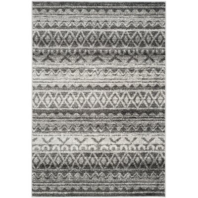 St. Ann Highlands Ivory & Charcoal Area Rug Rug Size: 9' x 12'