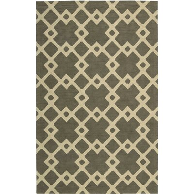Hateya Hand-Woven Ash Area Rug Rug Size: Rectangle 5 x 8