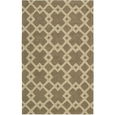 Hateya Hand-Woven Taupe Area Rug Rug Size: Rectangle 5 x 8
