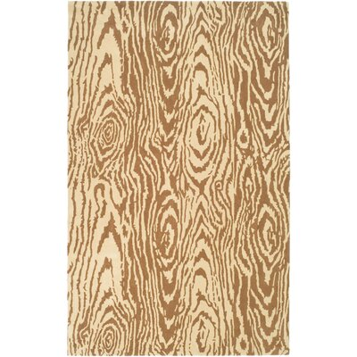 Layered Faux Bois Hand-Loomed Sequoia Area Rug Rug Size: Rectangle 4 x 6