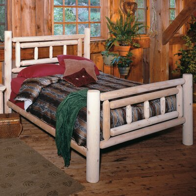 Lonato Log Panel Bed Size: Queen