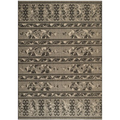Port Laguerre Black/Gray Area Rug Rug Size: Rectangle 8 x 11