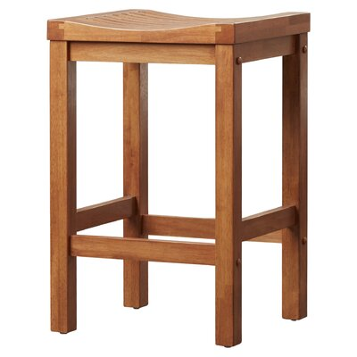 Greenwood Bar Stool Finish: Cottage Oak, Height: 24