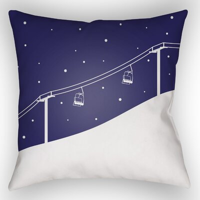 Dove Valley Indoor/Outdoor Throw Pillow Size: 18 H x 18 W x 4 D, Color: Dark Blue