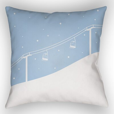 Dove Valley Indoor/Outdoor Throw Pillow Size: 18 H x 18 W x 4 D, Color: Light Blue
