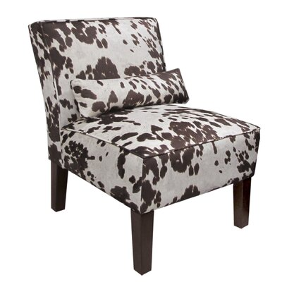 Thurston Slipper Chair Upholstery: Udder Madness Milk