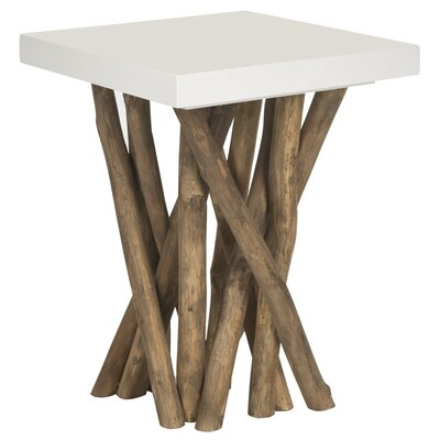 Kieve End Table Color: White