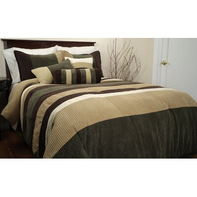 Mustang Piece Comforter Set Size: King, Color: Olive