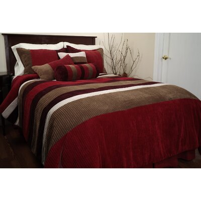 Mustang Piece Comforter Set Color: Red, Size: King