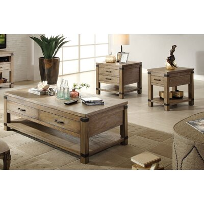 Korbel 3 Piece Coffee Table Set