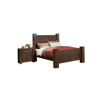 Bison Ridge Panel Headboard Size: King, Color: Brown
