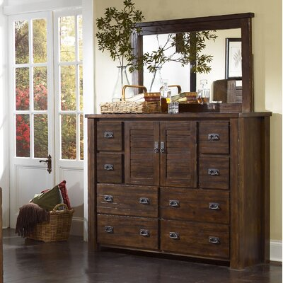 Bison Ridge 8 Drawer Combo Dresser with Mirror